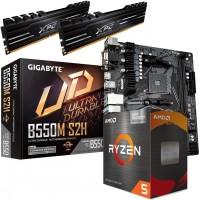 Ryzen 5600G 6-Core CPU with Radeon Vega Graphics, Wraith Cooler, Gigabyte B550M S2H mATX Motherboard & XPG Gammix 16GB 3200MHz Memory (2x8GB) Bundle