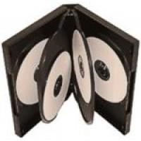 6 WAY DVD Storage Cases in Black - 100 BOX