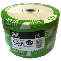 Arita White Full Face Inkjet Printable 52x CD-R in 50 Pack