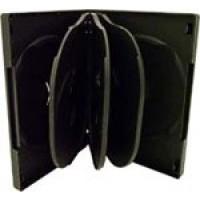 8 WAY DVD Storage Cases (Black) - 5 BOX