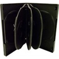 8 WAY DVD Storage Cases (Black) - 50 BOX
