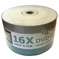 Arita White Full Face Inkjet Printable 16x DVD-R in 50 Pack