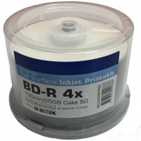 Traxdata Pro-Series Blu-ray Inkjet Printable BD-R 25GB 4x Speed Single Layer Disc - 50 TUB