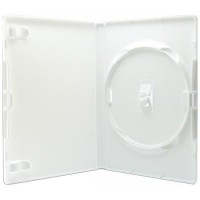 Amaray Premium Single WHITE 14mm DVD Case - 50 BOX - AMA02318KA