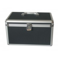 MediaRange BOX71 200 Disc Aluminium CD/DVD BLACK DJ Style Carry Case - Retail
