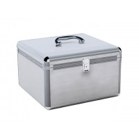 MediaRange BOX76 300 Disc Aluminium CD/DVD SILVER DJ Style Carry Case - Retail
