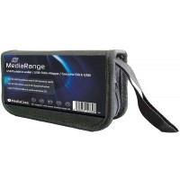 MediaRange BOX99 Flashdrive Storage Wallet - 10 USB sticks and 5 SD memory cards