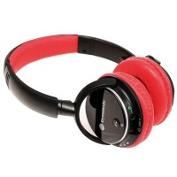 Dynamode DH-01BT-RD Bluetooth Headphones Ideal for Smartphones and Tablets - RED