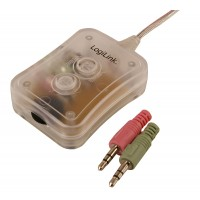 LogiLink 2 Port Mini Desktop Audio Switch - 2.5m