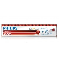 Philips **OFFER** PowerLife LR6P32F/10 Alkaline AA 1.5v Batteries (32 per pack) - Retail