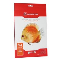 Mirror Premium Plus HIGH GLOSS Photo White Instant Dry Inkjet Paper A4 190gsm - 50 SHEETS