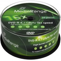 MediaRange MR444 Branded 16x DVD-R - 50 TUB