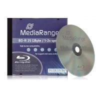 MediaRange MR490 (Blu-ray) BD-R 25GB 2x Speed Single Layer Disc (EACH IN JEWEL CASE)