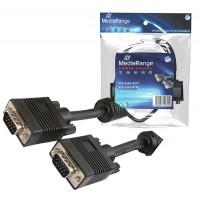 MediaRange MRCS112 SVGA Male to Male Extension Cable - 15 Metre Length