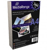 MediaRange MRINK106 2880dpi A4 Laser Matte Coated 120gsm Photo Paper - 100 SHEETS