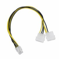 Dynamode 4-Pin Molex to 6-Pin PCle Converter/Adaptor Cable - 10cm