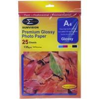 Sumvision 135gm Glossy A4 ADHESIVE 25 Sheets Per Pack