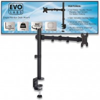 Evo Labs Single Monitor Arm Desk Mount