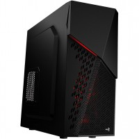 Aerocool Cyber X Mid-Tower Red Front LED 1 x 12cm Black Rear Fans PC Case