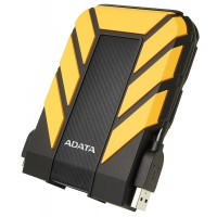ADATA HD710 2TB USB 3.1 High Speed IP68 Military Grade Water, Dust, Shock Proof Rugged External Hard Drive - Yellow