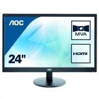 AOC M2470SWH 24inch Full HD Monitor 1920x1080, 5ms, VGA, 2 x HDMI, Speaker