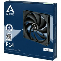 Arctic F14 14cm Case Fan, Black, 9 Blades, Fluid Dynamic, 3-Pin Connection