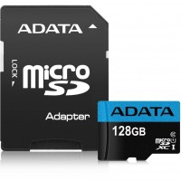 Adata 128gb Premier Micro SDXC Card With SD Adapter UHS-I Class 10 With A1 App Performance