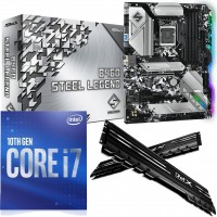 Intel 10th Gen Premium Bundle: Intel Core i7 10700F Eight Core 10th Gen. CPU, ASRock Intel B460 Steel Legend ATX Motherboard & 16GB 3200MHz DIMM Memory (2x8GB)