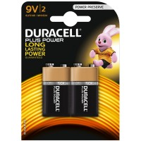 Duracell Plus Power 9V PP Batteries - Pack of 2