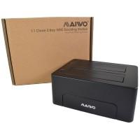Maiwo Dual Bay 2.5 / 3.5 Inch USB 3.0 Hard Drive Docking Station with Clone Facility