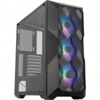 Cooler Master MasterBox TD500 Mesh Case, Crystalline Tempered Glass Side Window Panel, RGB Fans - Black
