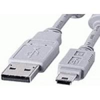 USB A Plug to Mini B (5 Pin)