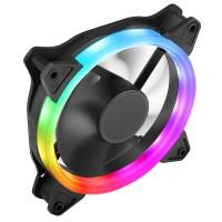 Rainbow Ring 12cm / 120mm Cooling Fan, 4pin Molex, 3pin OEM