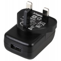 LMS Data UK Mains Plug to USB Adaptor with 5Vdc, 2A Output for Smartphones, Tablets, GPS or MP4 Devices