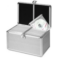 MediaRange BOX75 200 Disc Aluminium CD/DVD Silver DJ Style Carry Case