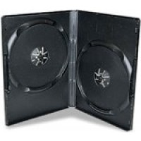 DOUBLE Black Standard 14mm DVD Storage Cases - 100 BOX