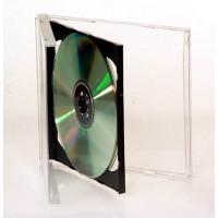 Double CD/DVD Jewel Case with Black Insert in 100 BOX