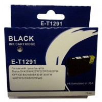 Epson T1291 BLACK Ink Cartridge with HUGE 19ml ink - for BX305F/FW, BX320FW, BX525WD, BX625FWD, SX420W, SX425W, SX525WD, SX620FW