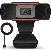 HD Webcam, Auto Focus Face Camera with Dual Microphone for PC, Laptops, Desktop and Gaming, USB Computer Web Camera 90 Degrees Extended View