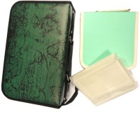 Digitalpromo Value Executive 100 Disc (GREEN WITH ATLAS PRINT) + FREE 40 Disc Carry Case