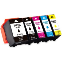 Compatible Epson 202XL Kiwi - 5 Colour High Capacity Ink Cartridge MULTIPACK SET - (C13T02G74010‎) Kiwi - T202XL SET