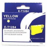 Epson T1284 YELLOW Ink Cartridge with HUGE 14ml ink - for BX305F/FW, S22, SX125, SX420w, SX425W
