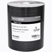 FalconMedia Pro DVD-R 16x FTI 4.7GB W/S Dupli-Line Thermal White Printable - Spindle 100