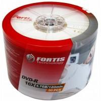 Fortis Technology Branded 16x DVD-R - 50 Pack