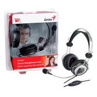 Genius HS-04SU Luxury Noise Cancelling 3.5mm Headset with In-Line Microphone