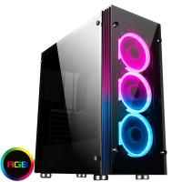 Game Max Eclipse RGB Midi Gaming Case With Tempered Glass Side Panel
