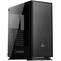 Game Max Muted Silent PC Gaming Mid Tower Computer Case with Side Window