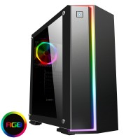 Game Max Starlight RGB Rainbow Strip and Rear Fan Sync Hub, Glass Side Panel Gaming Case