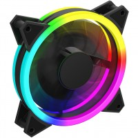 GameMax Velocity 12cm Rainbow ARGB Fan RTB 3pin M&F Aura Header 3pin / 4pin Power