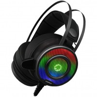 Game Max G200 RGB Noise Cancelling Gaming Stereo Headset and Microphone - RGB / Black